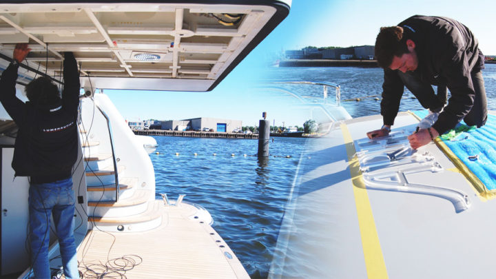 Installing Yacht Signs with Precision & Care Image