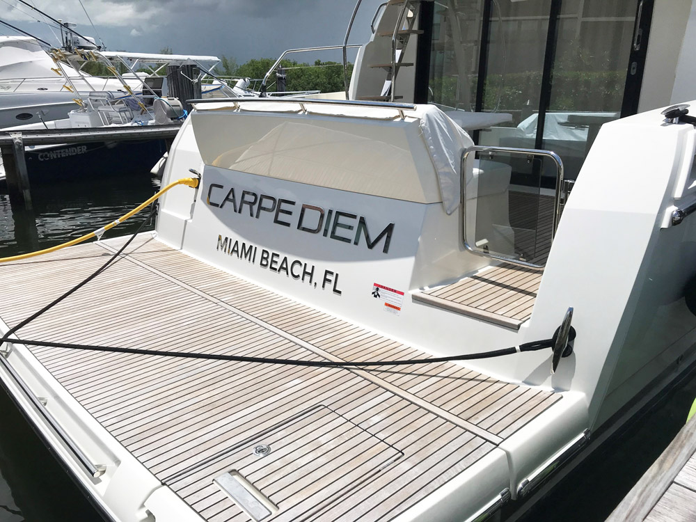 Carpe Diem Yacht Name Stainless steel